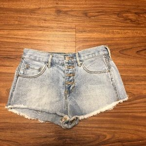 Simple High-Rise Jean Shorts